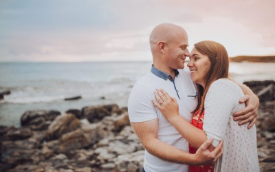 Luka & Russ, Porthcawl Beach Engagement, South Wales Engagement Shoot