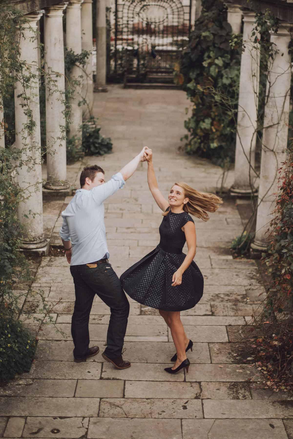 London engagement shoot wedding photographer Pergola and Hill Garden hampstead heath