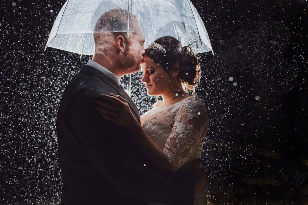How to deal with rain on your wedding day! A guide by Honeydew Moments