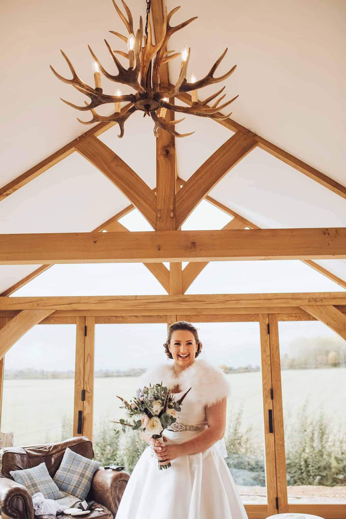 Rustic winter bride