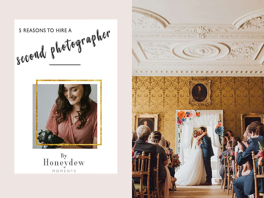 Reasons to hire a second photographer at your wedding tips by Honeydew Moments