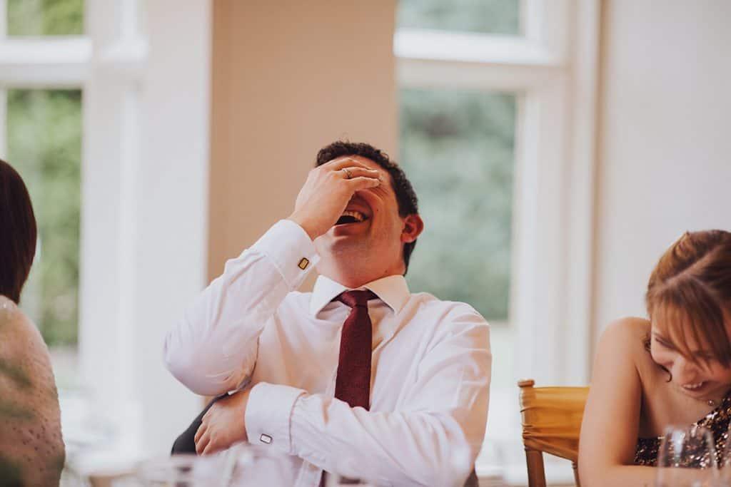 guest reaction to wedding speech
