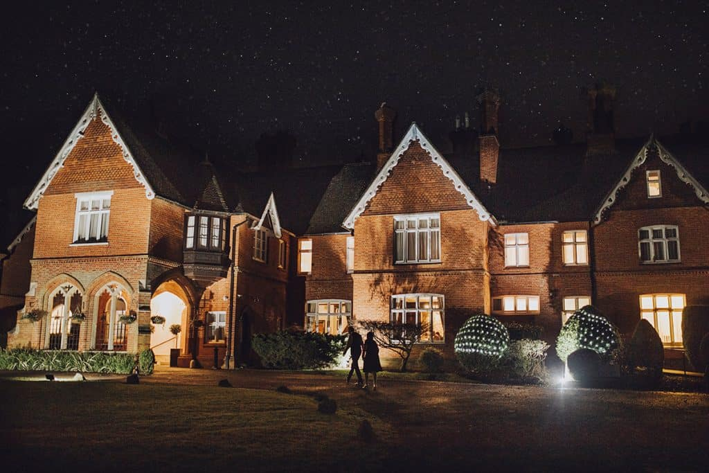 audleys wood hotel at night time