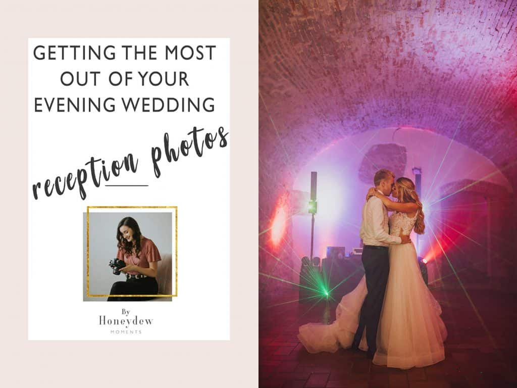 getting the most out of your evening wedding reception photos