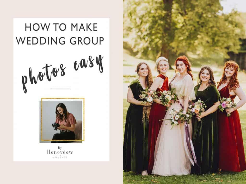 make wedding group photos easy