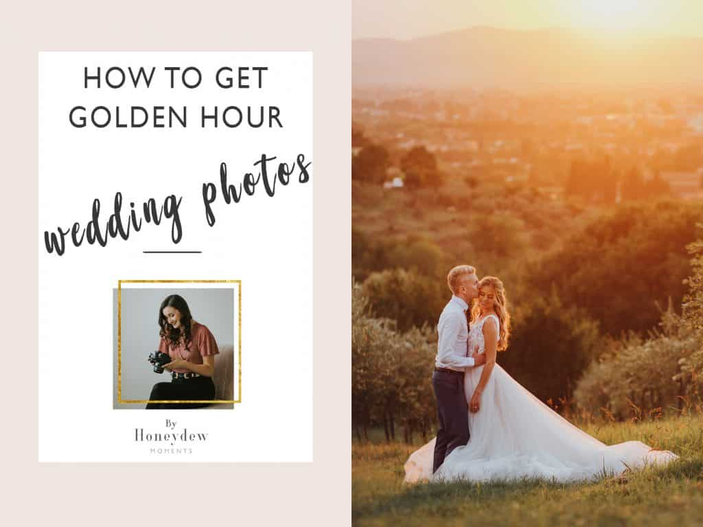 How to get golden hour sunset wedding photos tips